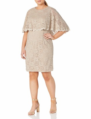 Jessica Howard JessicaHoward Women's Size Scallop Capelet Dress