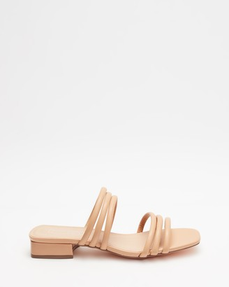 Therapy Women's Neutrals Strappy sandals - Lena - Size 7 at The Iconic