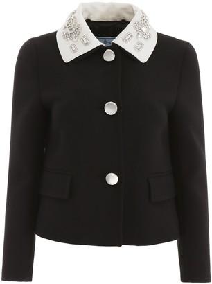 Prada Embellished Collared Jacket