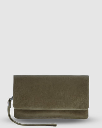 Cobb & Co - Women's Green Wallets - Albury Soft Leather Fold Over Wallet - Size One Size at The Iconic