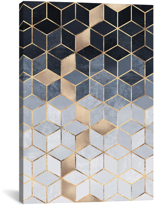 iCanvas Soft Blue Gradient Cubes, Rectangular Canvas Wall Art