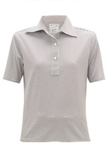 Giuliva Heritage Collection The Daphne Striped Cotton Polo Shirt - Womens - Light Brown