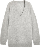 Alexander Wang Oversized Wool And Cashmere-blend Sweater - Gray