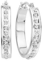 FINE JEWELRY Diamond Fascination 14K Gold Flat Hoop Earrings