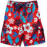 Kanu Surf Red Revival Floral Boardshorts - Toddler & Boys