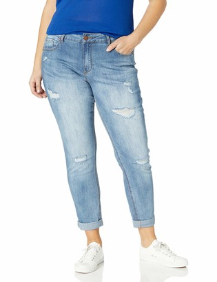 City Chic Women's Apparel Women's Plus Size Denim Jeans with Distressed Detail