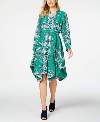 Charter Club Long-Sleeve Handkerchief Dress