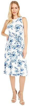 Lauren Ralph Lauren Felia Sleeveless Day Dress (Colonial Cream/White/Multi) Women's Dress