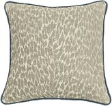 Rose Tree Leopard and Textured Reversible Square Pillow