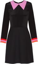 Roksanda Clifton crepe de chine and twill mini dress