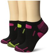 Dr. Scholl's Women's 3 Pack Health Strides Tri-Zone Low Cut Socks