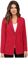 XOXO Single Button Long Blazer