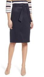 1901 Cotton Blend Twill Pencil Skirt