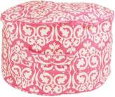 Lelbys Kids Bean Bags Damask Kids Bean Ottoman Cover, Pink and White