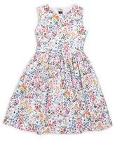 Oscar de la Renta Girl's Printed Cotton Dress
