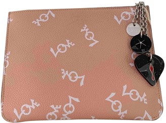 Christian Louboutin Pink Leather Clutch bags