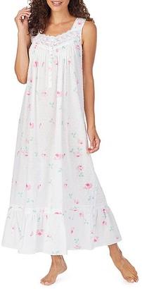 Eileen West Swiss Dot Rose Woven Nightgown