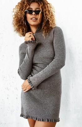 Beginning Boutique Dark Rose Dress Grey
