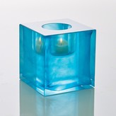 The Well Appointed House Global Views Block T-Lite Candle Holder in Aqua