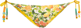 Stella McCartney Citrus-print side-tie bikini briefs