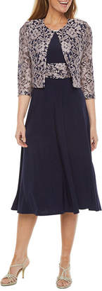 Jessica Howard 3/4 Sleeve Jacket Dress