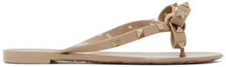 Valentino Pink Garavani Rockstud Bow Sandals