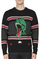 Saint Laurent T-Rex Intarsia Wool Sweater