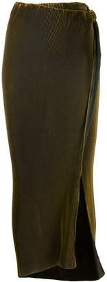 Romeo Gigli Pre-Owned 1996 side slit maxi skirt