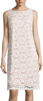 Ronni Nicole Sleeveless Pinwheel Lace Sheath Dress