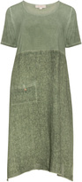 Isolde Roth Plus Size Linen and jersey flared dress
