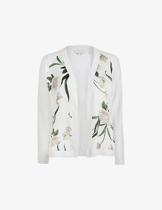 Ted Baker Elderflower floral-print cotton-blend cardigan