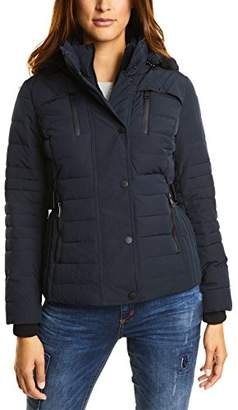 Street One Women's OJP_Sportive Padded Jacket with Fake Fur,(Size: 44)