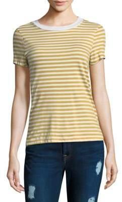 Stateside Mustard Striped Cotton Top
