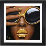 iCanvas Goldilips by Scott Rohlfs (Framed)