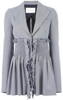 Cédric Charlier houndstooth pattern blazer - women - Cotton/Acetate/Rayon - 40