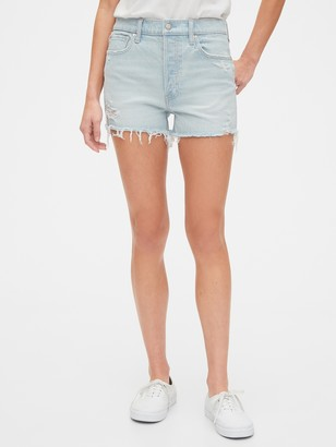 Gap High Rise Curvy Cheeky Shorts with Raw Hem
