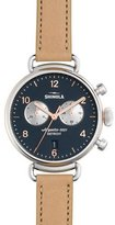 Shinola 38mm Canfield Chronograph Watch, Natural/Rose Golden