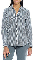 Investments Petite Gold Label Non-Iron Long Sleeve Button Front Shirt