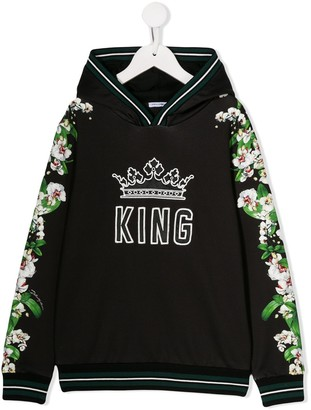 Dolce & Gabbana King floral print hoodie
