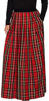 Joan Rivers Classics Collection Joan Rivers Petite Length Holiday Plaid Maxi Skirt