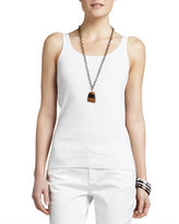 Eileen Fisher Organic Cotton Slim Tank, Petite