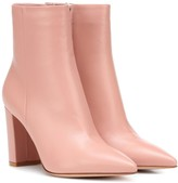 Gianvito Rossi Piper 85 leather ankle boots