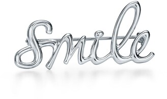 Tiffany & Co. Paloma's Graffiti smile brooch in sterling silver