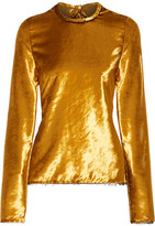 Sid Neigum - Tie-back Crushed-velvet Top - Gold