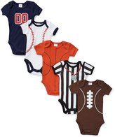 Starting Out Baby Boys Newborn-9 Months Sports Bodysuits 5-Pack