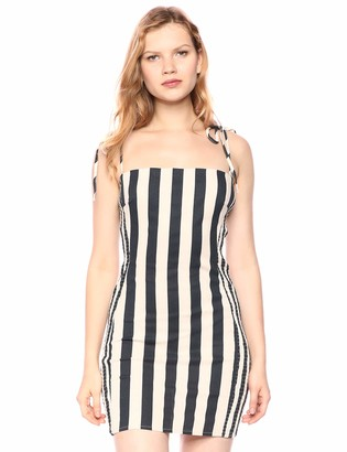 ASTR the Label Women's Lena Fitted Stretch Cotton Sleeveless Bodycon Mini Dress
