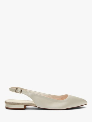 Rainbow Club Alise Slingback Satin Pumps, Ivory