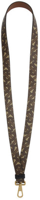 Burberry Brown E-Canvas TB Monogram Lanyard Keychain