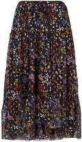 See by Chloe Floral Tiered Midi Skirt