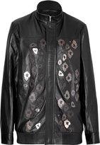 Anthony Vaccarello Embellished Leather Jacket